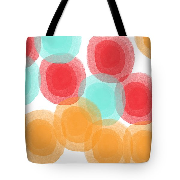 Summer Sorbet- Abstract Painting Tote Bag by Linda Woods