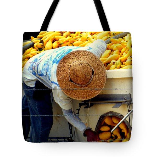 Summer Squash Tote Bag by Karen Wiles