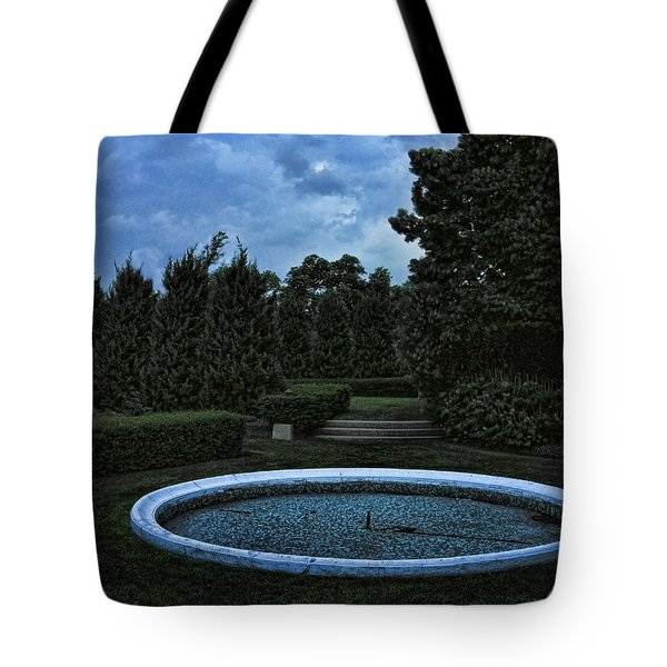 Summer Storm Coming Bahai Temple Tote Bag by John Hansen