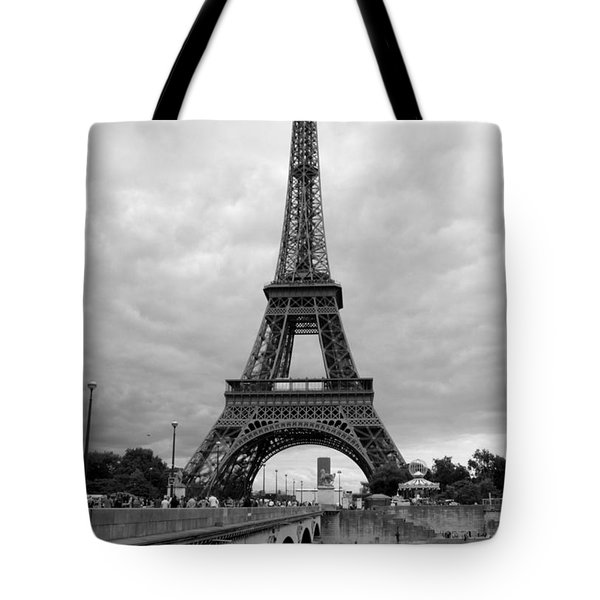 Summer Storm Over The Eiffel Tower Tote Bag by Carol Groenen