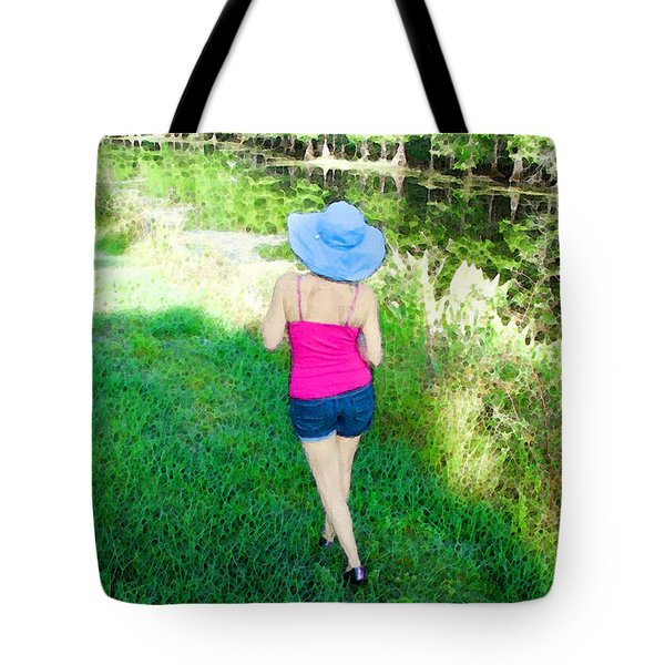 Summer Stroll In The Park - Art by Sharon Cummings Tote Bag by Sharon Cummings