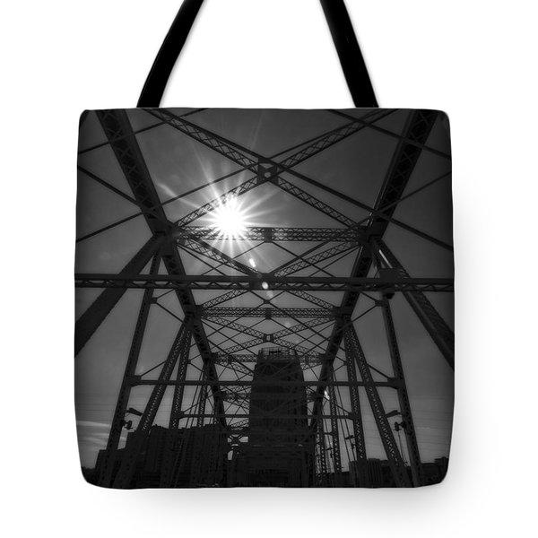 Summer Sun On Shelby Street Bridge Tote Bag by Dan Sproul