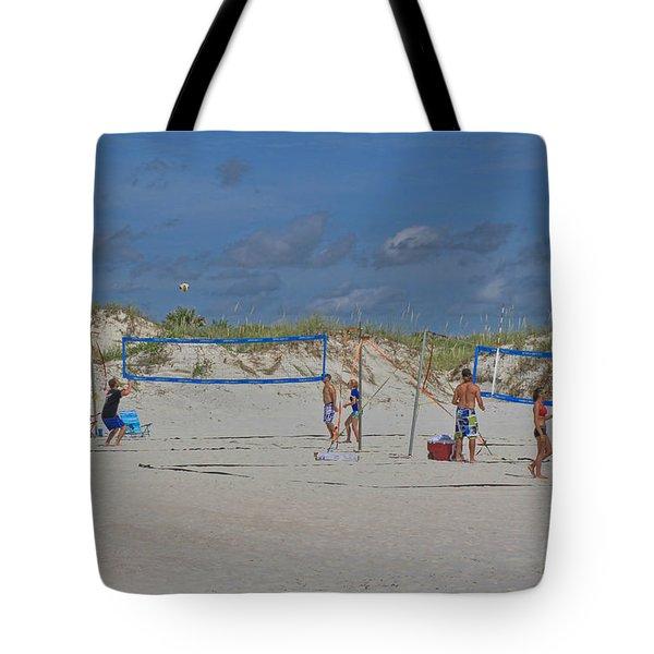 Summer Volley Ball Tote Bag by Deborah Benoit