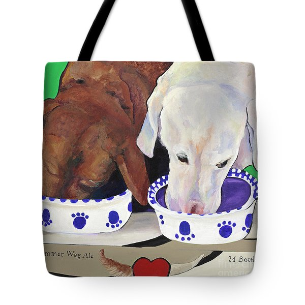 Summer Wag Ale Tote Bag by Pat Saunders-White