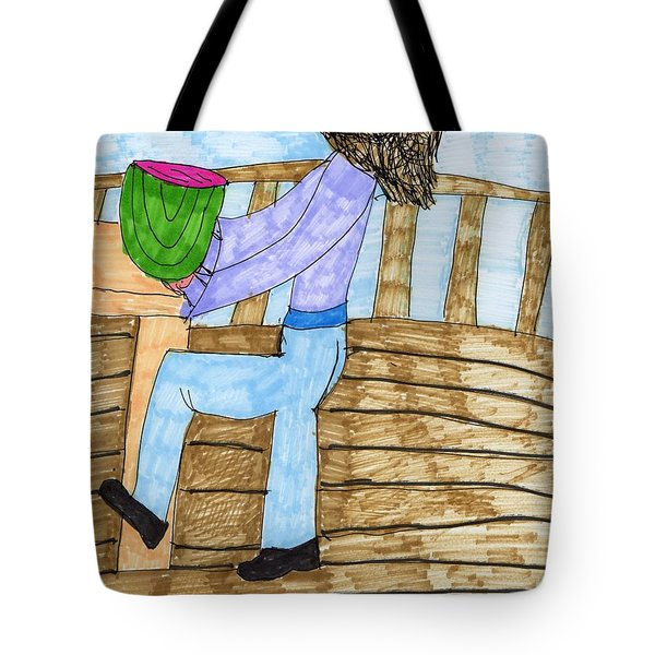 Summers Lunch Tote Bag by Elinor Rakowski