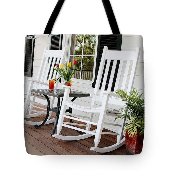 Summertime And Sweet Tea Tote Bag by Toni Hopper
