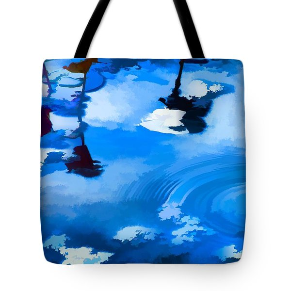 Summertime Blue Tote Bag by Robyn King