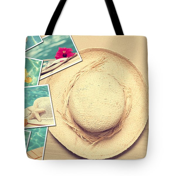 Summertime Postcards Tote Bag by Amanda Elwell