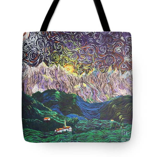 Sun And Moon Night Tote Bag by Stefan Duncan