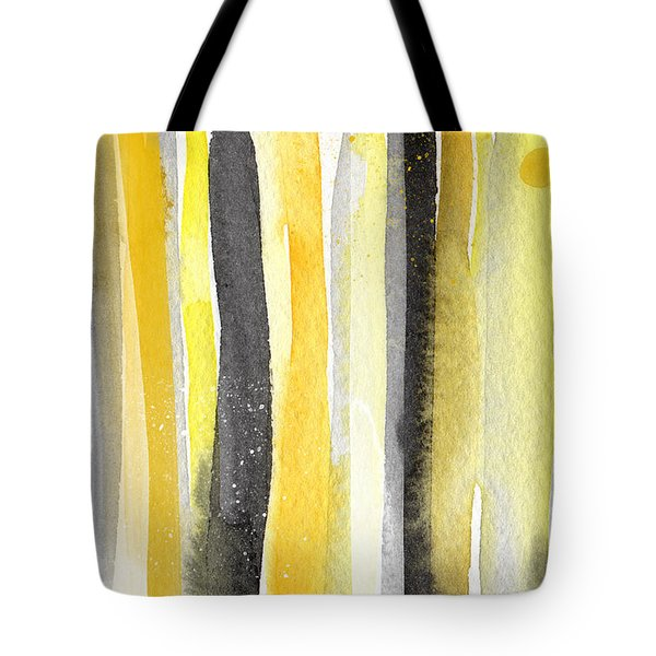 Sun and Shadows- abstract painting Tote Bag by Linda Woods