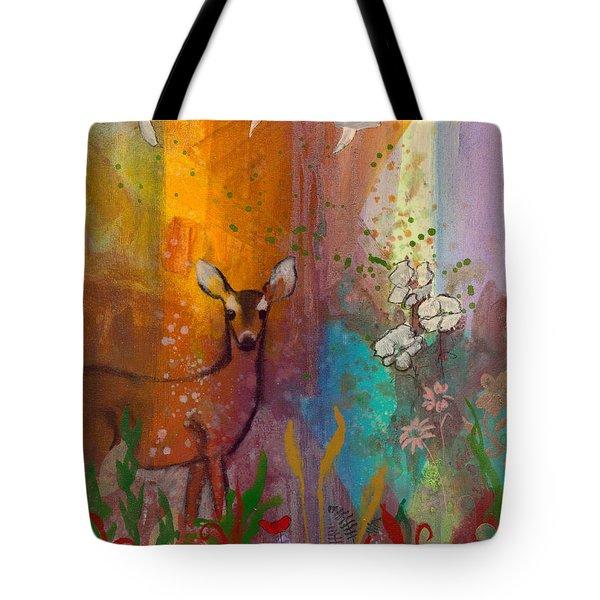 Sun Deer Tote Bag by Robin Maria Pedrero