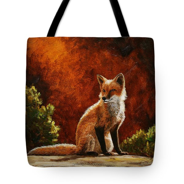 Sun Fox Tote Bag by Crista Forest