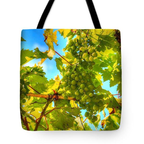 Sun Kissed Green Grapes Tote Bag by Eti Reid