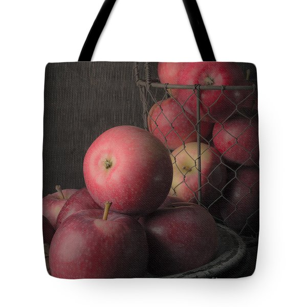 Sun Warmed Apples Still Life Standard Sizes Tote Bag by Edward Fielding
