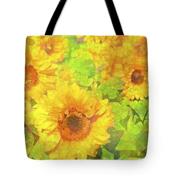 Sunflower 19 Tote Bag by Pamela Cooper