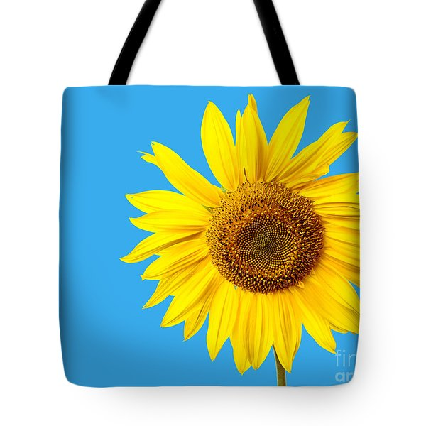 Sunflower Blue Sky Tote Bag by Edward Fielding