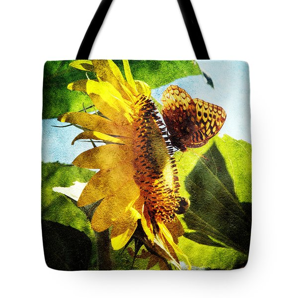 Sunflower Butterfly And Bee Tote Bag by Andee Design