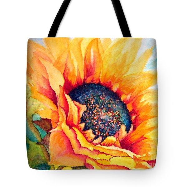 Sunflower Joy Tote Bag by Janine Riley