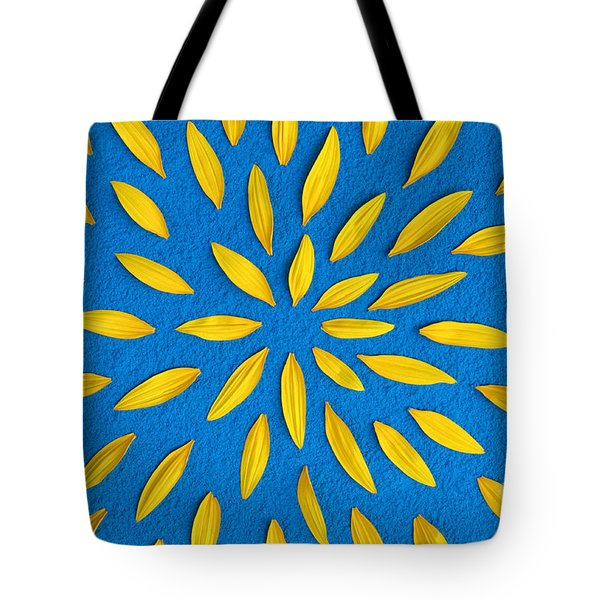 Sunflower Petals Pattern Tote Bag by Tim Gainey