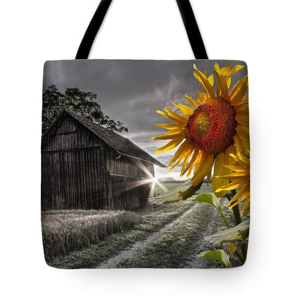 Sunflower Watch Tote Bag by Debra and Dave Vanderlaan