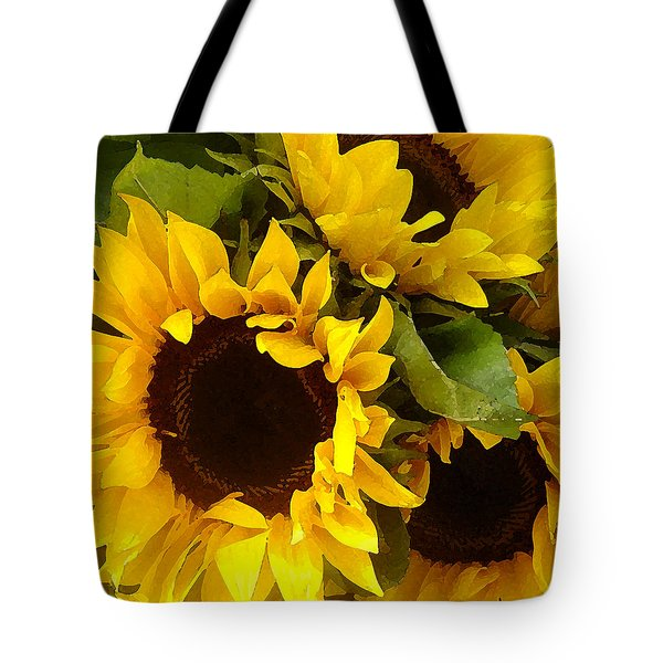 Sunflowers Tote Bag by Amy Vangsgard