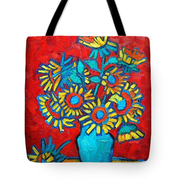 Sunflowers Bouquet Tote Bag by Ana Maria Edulescu