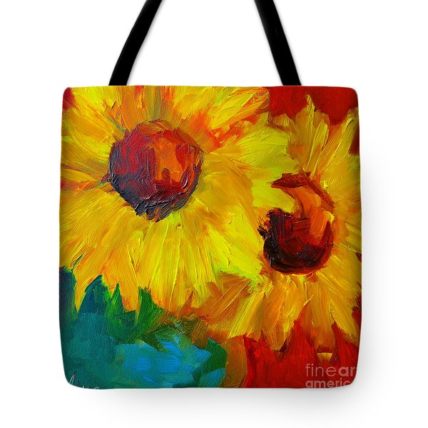 Sunflowers Girasoles Still Life Tote Bag by Patricia Awapara