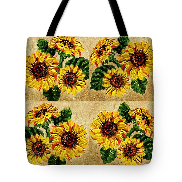 sunflowers pattern country field on wooden board painting