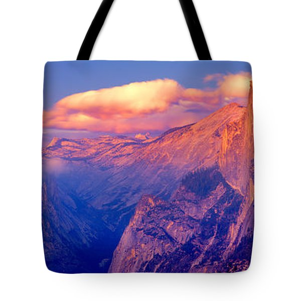 Sunlight Falling On A Mountain, Half Tote Bag by Panoramic Images