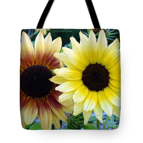 Sunny And Peachy Tote Bag by Lingfai Leung