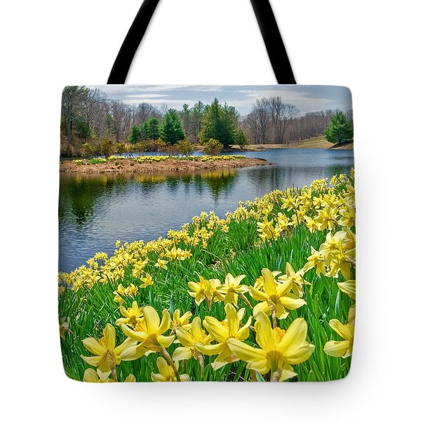 Sunny Daffodil Tote Bag by Bill Wakeley