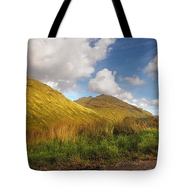 Sunny Day At Rest And Be Thankful. Scotland Tote Bag by Jenny Rainbow