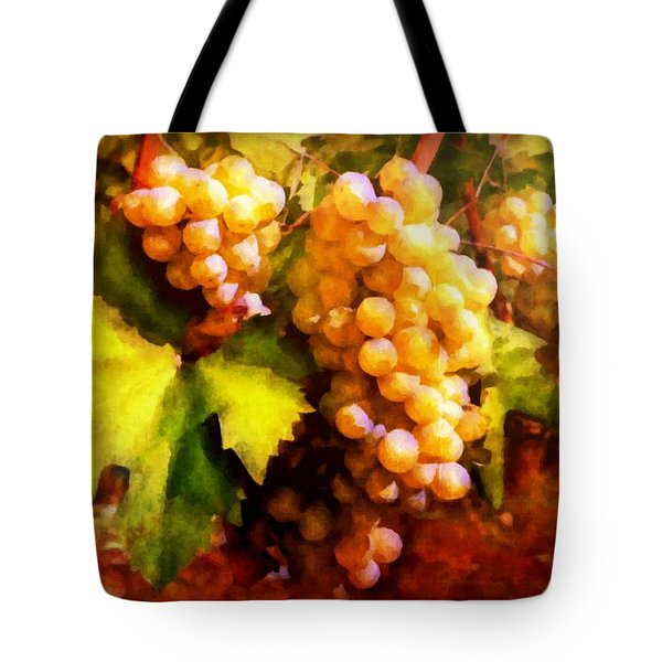 Sunny Grapes - edition 2 Tote Bag by Lilia D