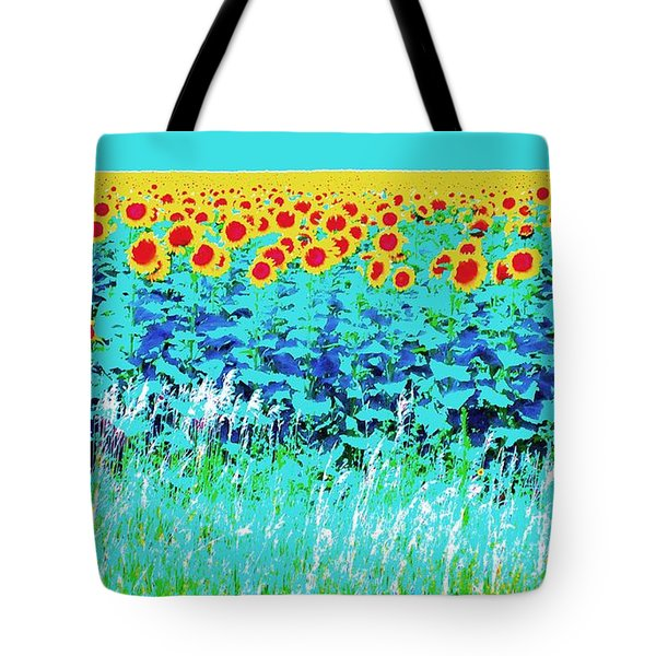 Sunny Kansas Tote Bag by Ann Johndro-Collins
