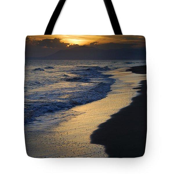 Sunrays Over The Sea Tote Bag by Guido Montanes Castillo