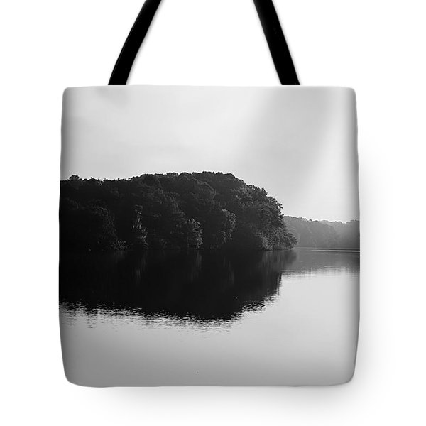 Sunrise Along The River Tote Bag by Debra Forand