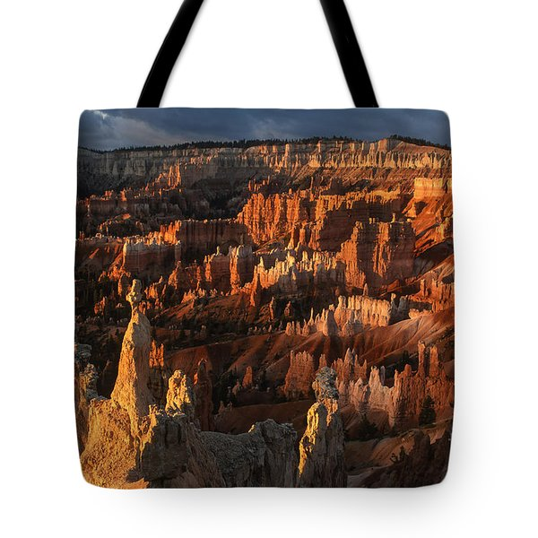 Sunrise At Bryce Canyon Tote Bag by Sandra Bronstein