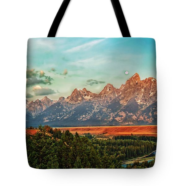 Sunrise At Grand Tetons Tote Bag by Robert Bales
