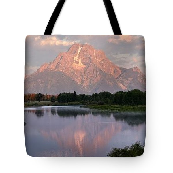 Sunrise At Oxbow Bend 1 Tote Bag by Marty Koch