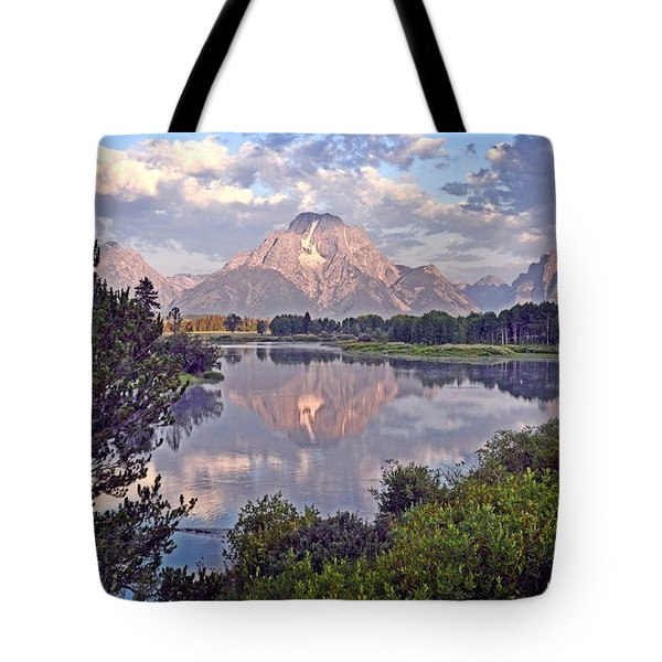 Sunrise at Oxbow Bend 4 Tote Bag by Marty Koch