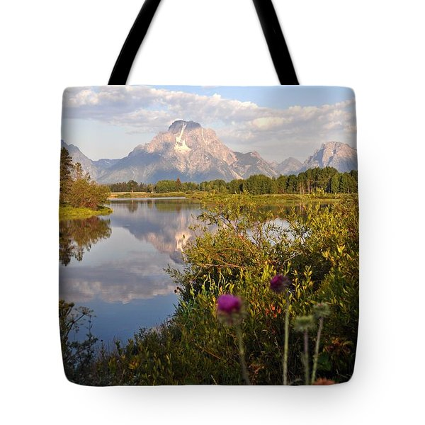 Sunrise at Oxbow Bend 5 Tote Bag by Marty Koch