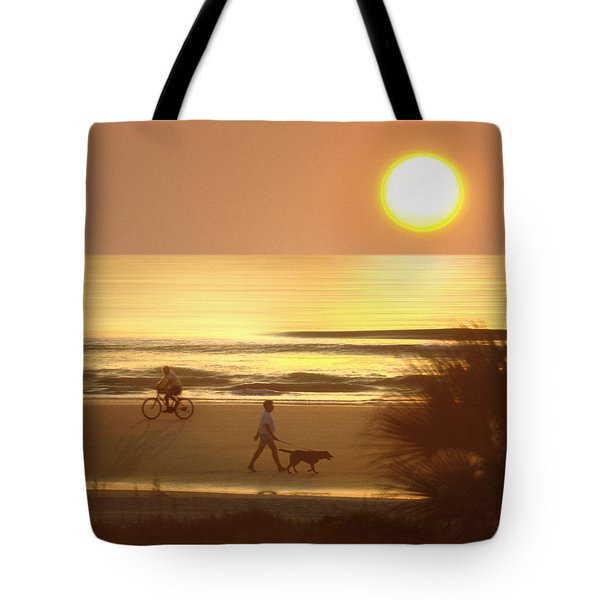 Sunrise at Topsail Island 2 Tote Bag by Mike McGlothlen