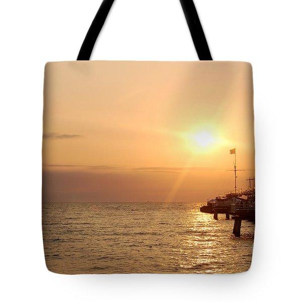Sunrise Ocean Tote Bag by Michal Bednarek