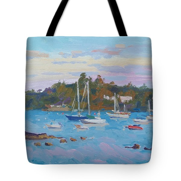 Sunrise On Inner Harbor Tote Bag by Dianne Panarelli Miller
