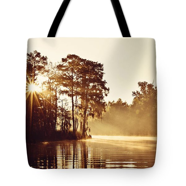 Sunrise On The Bayou Tote Bag by Scott Pellegrin