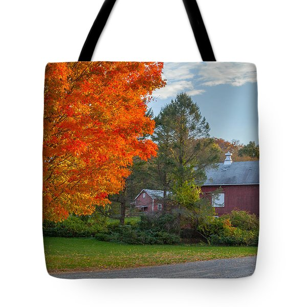 Sunrise on the farm Tote Bag by Bill  Wakeley