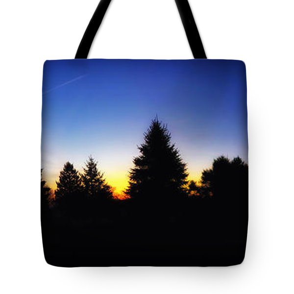 Sunrise Over East Lawn Panorama Tote Bag by Thomas Woolworth