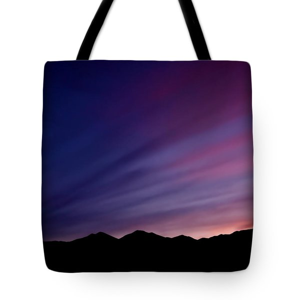 Sunrise Over The Mountains Tote Bag by Rona Black