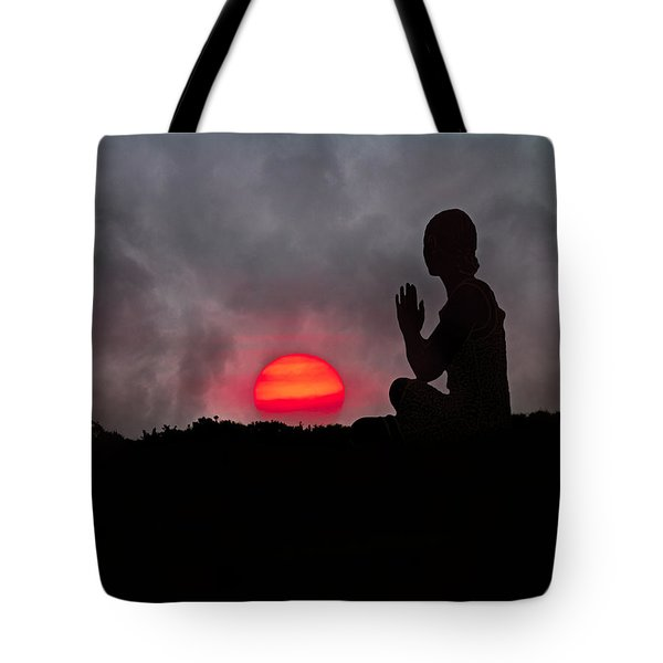 Sunrise Prayer Tote Bag by Betsy C Knapp