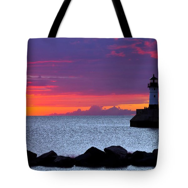 Sunrise Sailing Tote Bag by Mary Amerman